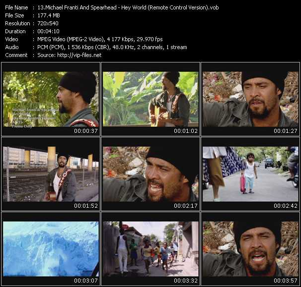 Screenshot of Music Video Michael Franti And Spearhead - Hey World (Remote Control Version)