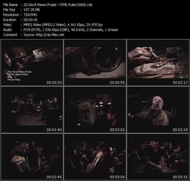 Devil Wears Prada video vob