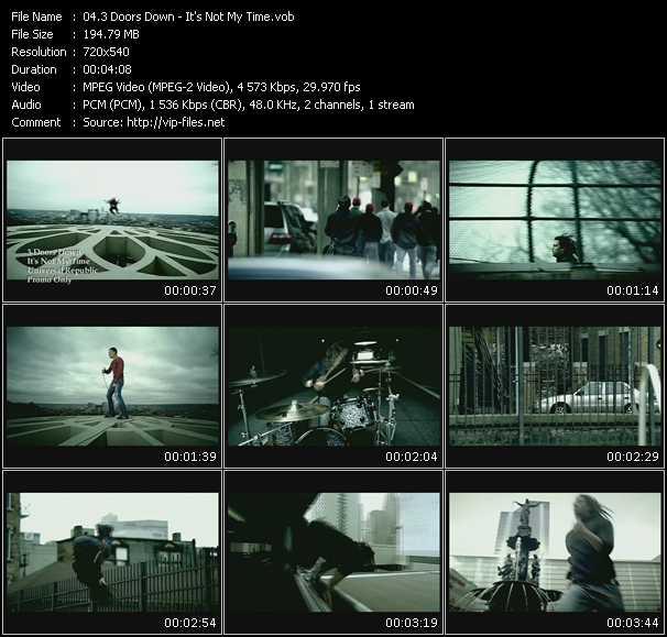 Screenshot of Music Video 3 Doors Down - It's Not My Time