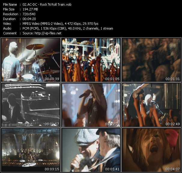 Screenshot of Music Video Ac-Dc - Rock 'N Roll Train
