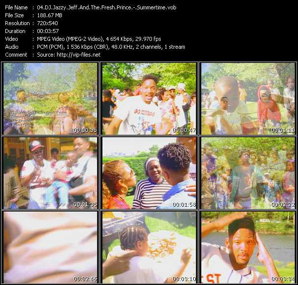 Screenshot of Music Video Dj Jazzy Jeff And The Fresh Prince - Summertime