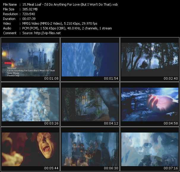 Screenshot of Music Video Meat Loaf - I'd Do Anything For Love (But I Won't Do That)