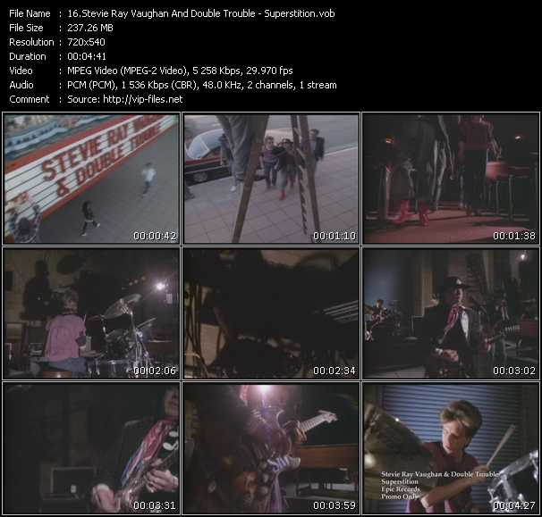 Screenshot of Music Video Stevie Ray Vaughan And Double Trouble - Superstition