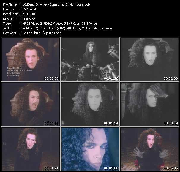 Screenshot of Music Video Dead Or Alive - Something In My House (12 Inch Version)