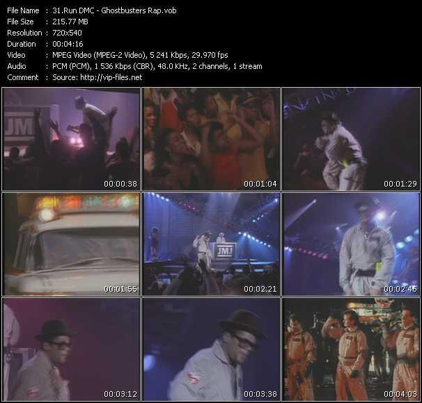 Screenshot of Music Video Run DMC - Ghostbusters Rap