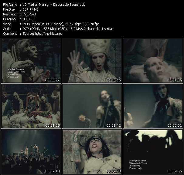 Marilyn Manson video vob