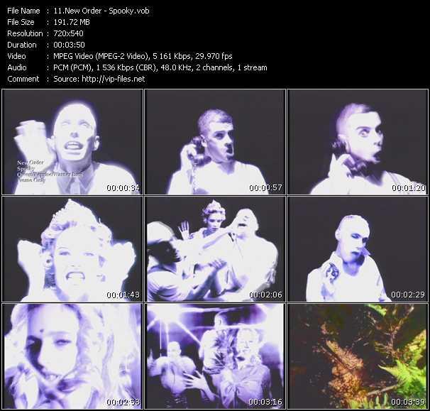 Screenshot of Music Video New Order - Spooky
