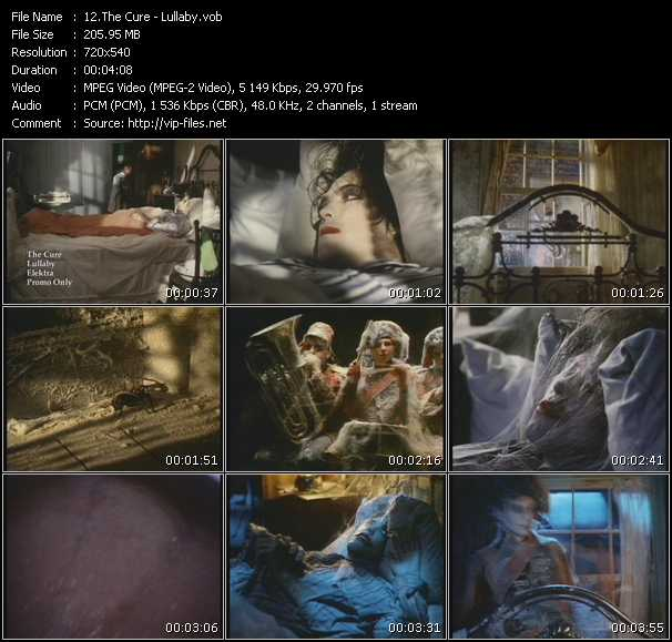 Screenshot of Music Video Cure - Lullaby