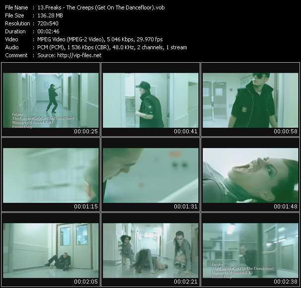 Screenshot of Music Video Freaks - The Creeps (Get On The Dancefloor)