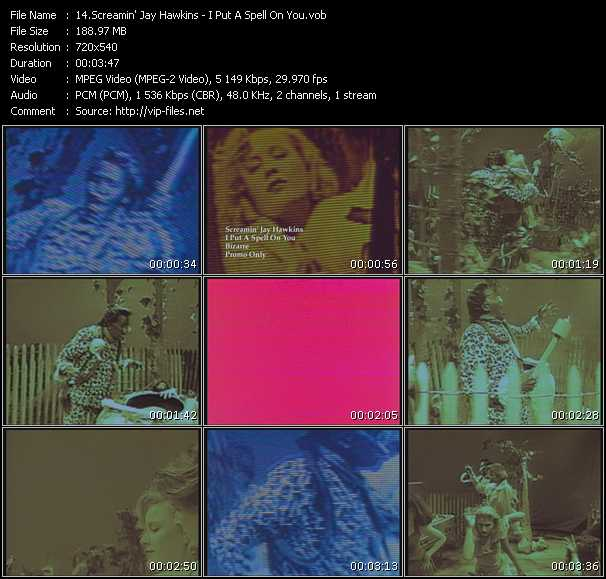 Screenshot of Music Video Screamin' Jay Hawkins - I Put A Spell On You