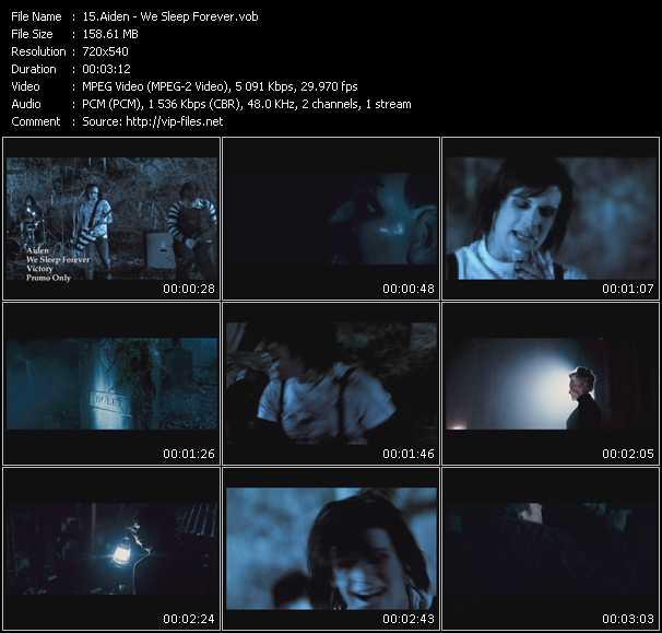 Screenshot of Music Video Aiden - We Sleep Forever