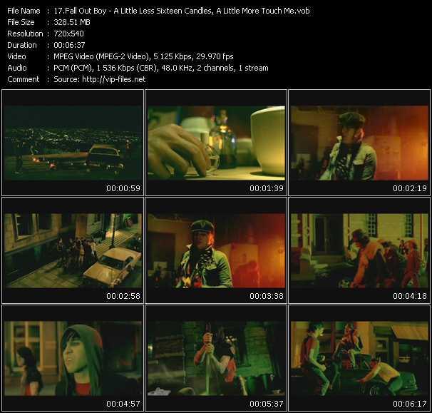 "Screenshot of Music Video Fall Out Boy - A Little Less Sixteen Candles, A Little More ""Touch Me"""