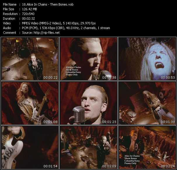Screenshot of Music Video Alice In Chains - Them Bones