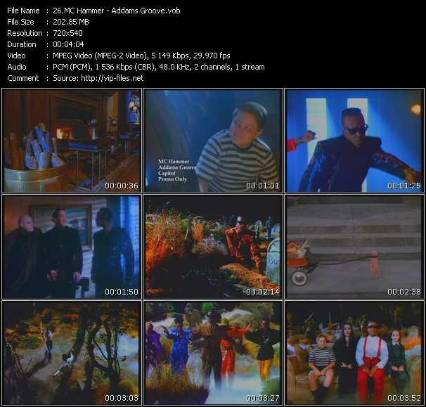 Screenshot of Music Video Mc Hammer - Addams Groove