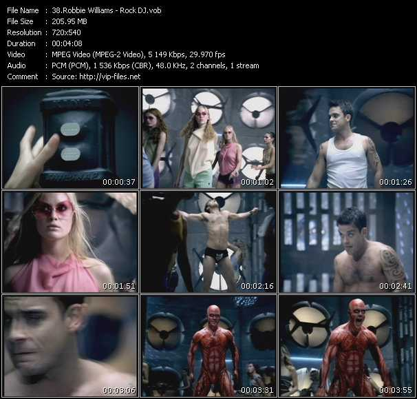 Screenshot of Music Video Robbie Williams - Rock DJ