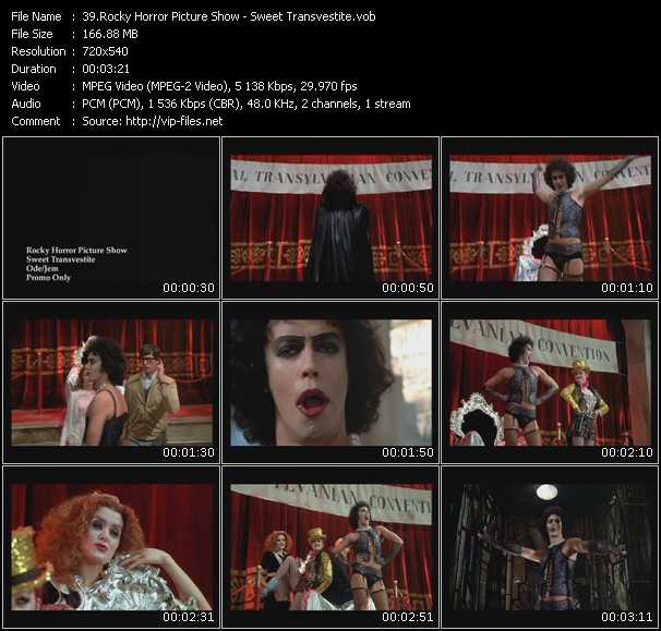 Screenshot of Music Video Rocky Horror Picture Show - Sweet Transvestite