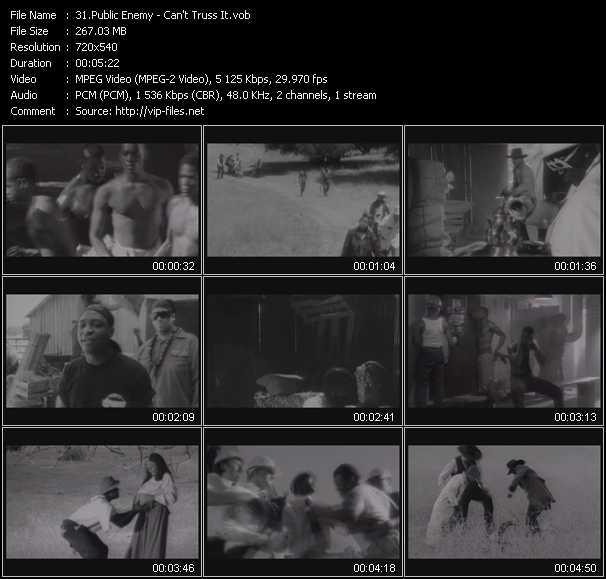 Screenshot of Music Video Public Enemy - Can't Truss It