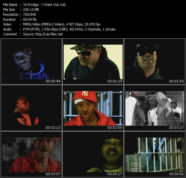 Screenshot of Music Video Prodigy - I Want Out
