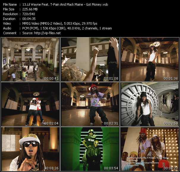 Screenshot of Music Video Lil' Wayne Feat. T-Pain And Mack Maine - Got Money