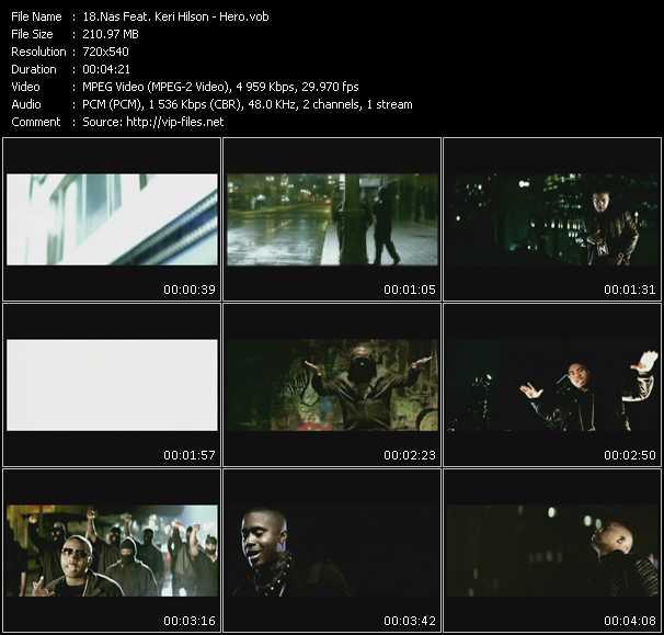 Screenshot of Music Video Nas Feat. Keri Hilson - Hero