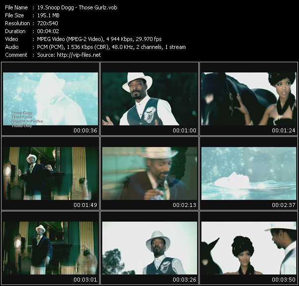 Screenshot of Music Video Snoop Dogg - Those Gurlz