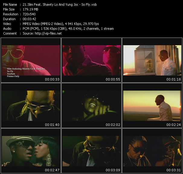 Screenshot of Music Video Slim Feat. Shawty Lo And Yung Joc - So Fly