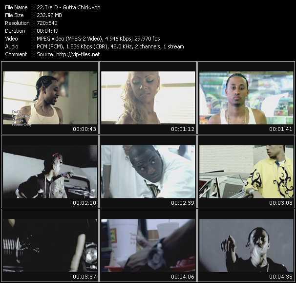 Screenshot of Music Video Trai'D - Gutta Chick