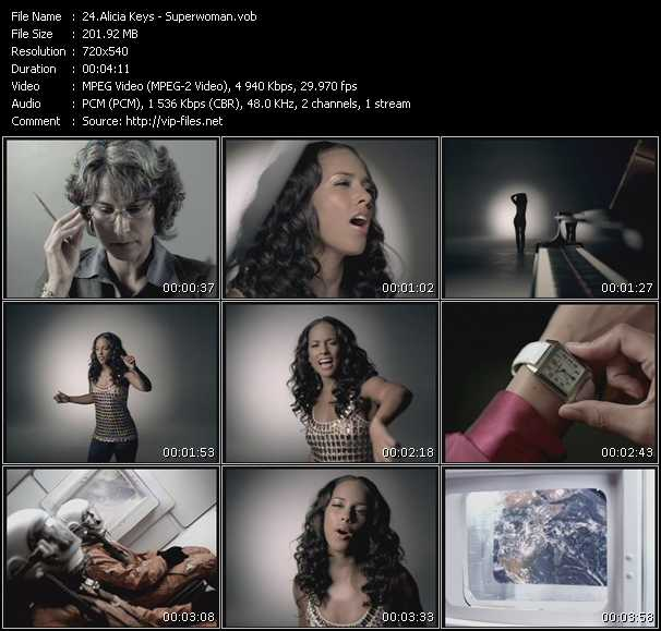 Screenshot of Music Video Alicia Keys - Superwoman