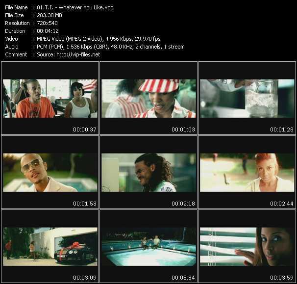 Screenshot of Music Video T.I. - Whatever You Like