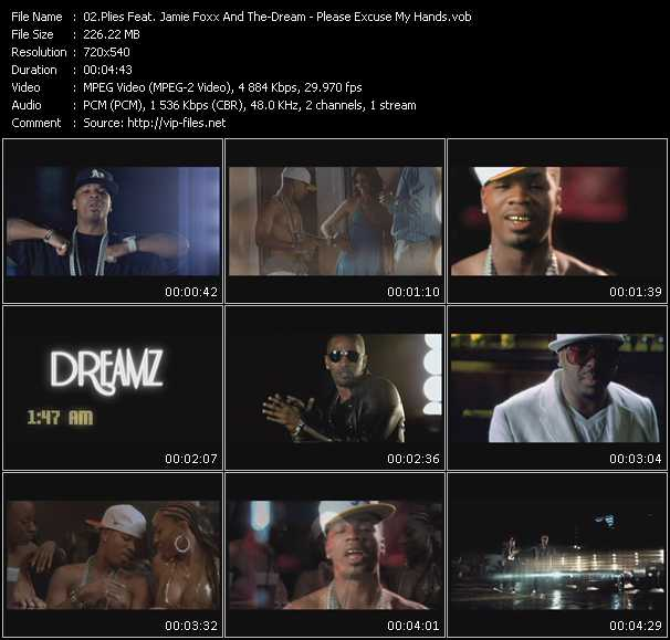 Screenshot of Music Video Plies Feat. Jamie Foxx And The-Dream - Please Excuse My Hands