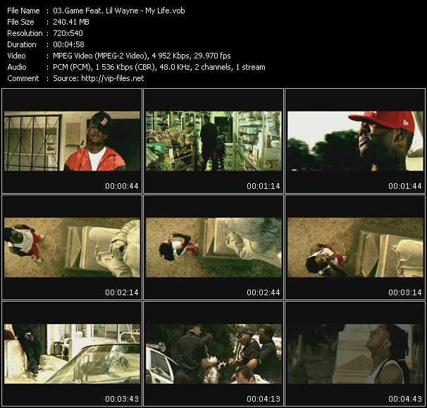 Screenshot of Music Video Game Feat. Lil' Wayne - My Life