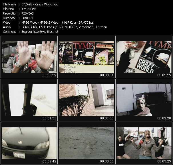 Screenshot of Music Video Skillz - Crazy World