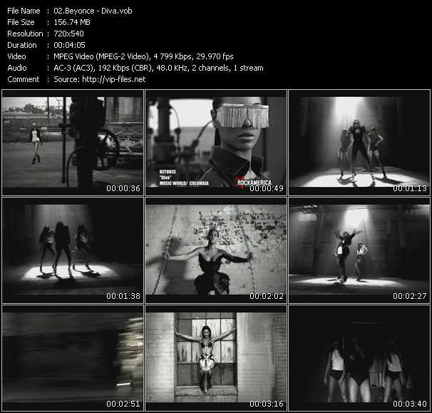 Screenshot of Music Video Beyonce - Diva