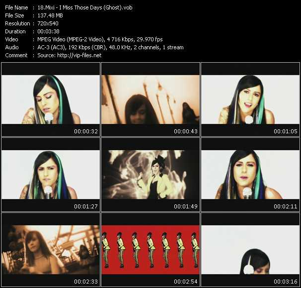 Screenshot of Music Video Mixi - I Miss Those Days (Ghost)