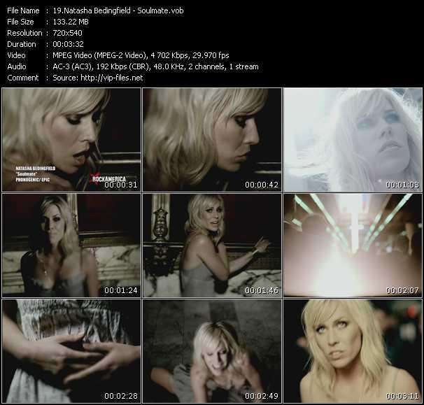 Screenshot of Music Video Natasha Bedingfield - Soulmate