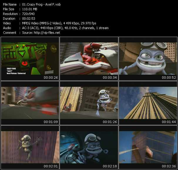 Crazy Frog video vob