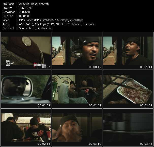 Screenshot of Music Video Skillz - Be Alright