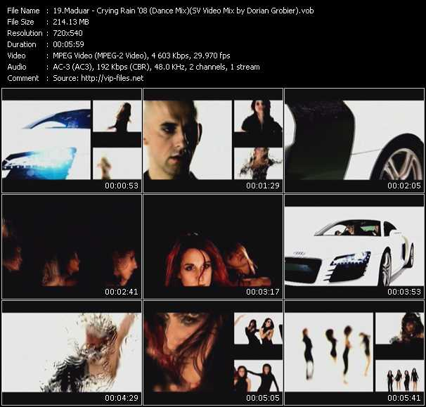 Screenshot of Music Video Maduar - Crying Rain '08 (Dance Mix) (ISV Video Mix by Dorian Grobier)