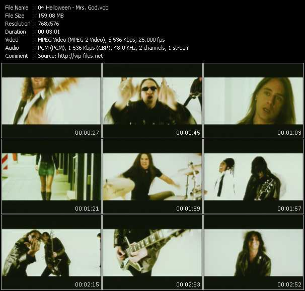 Screenshot of Music Video Helloween - Mrs. God