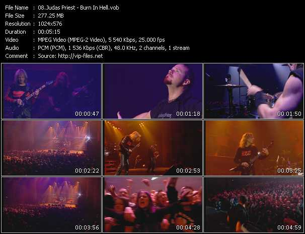 Judas Priest video vob