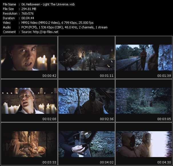 Screenshot of Music Video Helloween - Light The Universe