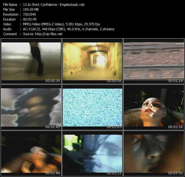 Screenshot of Music Video In Strict Confidence - Engelsstaub