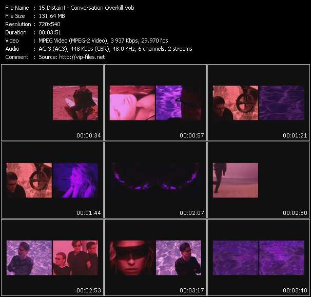Screenshot of Music Video Distain! - Conversation Overkill