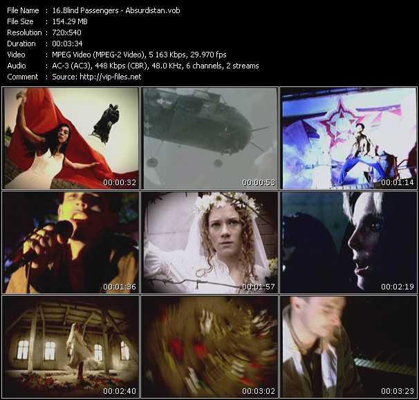 Screenshot of Music Video Blind Passengers - Absurdistan