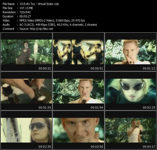 Screenshot of Music Video Evil's Toy - Virtual State