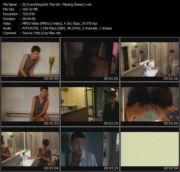 Screenshot of Music Video Everything But The Girl - Missing (Remix)