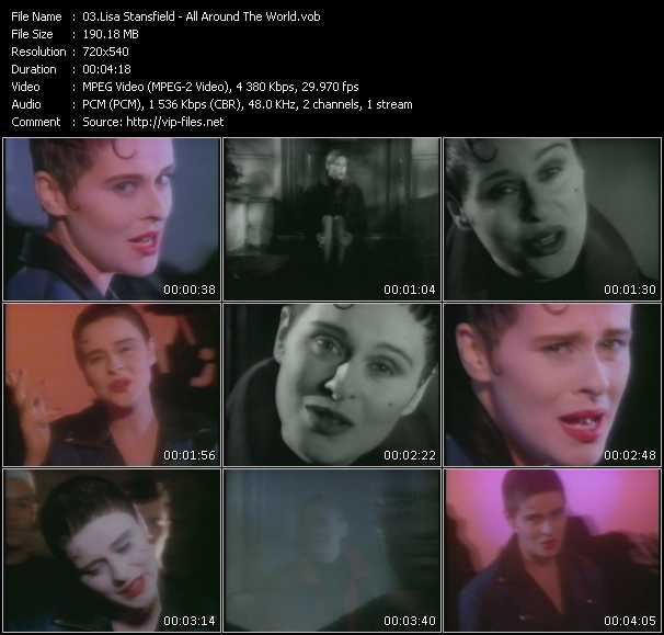 Screenshot of Music Video Lisa Stansfield - All Around The World