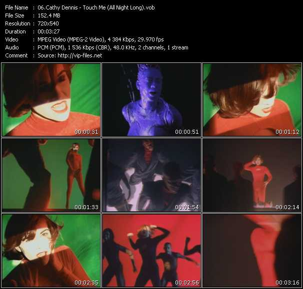Screenshot of Music Video Cathy Dennis - Touch Me (All Night Long)