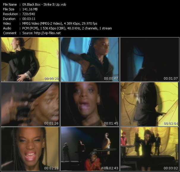 Screenshot of Music Video Black Box - Strike It Up