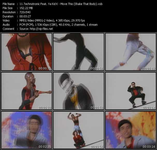 Screenshot of Music Video Technotronic Feat. Ya Kid K - Move This (Shake That Body)